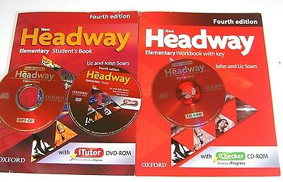 Oxford NEW HEADWAY ELEMENTARY STUDENT'S BOOKS AND WORKBOOK FOURTH EDITION DVD