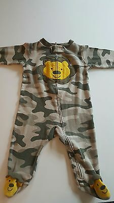 Carter's Child of Mine One-Piece Footed Sleeper Cotton Camouflage Bear 3-6 mo