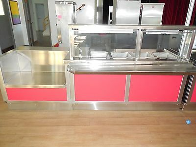 """Used! Duke #dc-Xp60Hf - 109"""" Buffet Steam Table W/ 4-Wells, Sneeze Guards, 208V."""