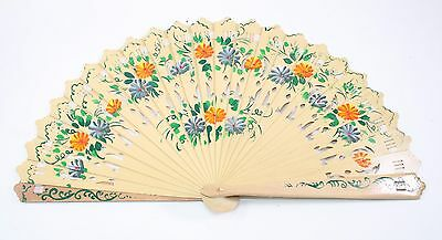 Wooden Spanish Floral Print Design Hand Fan Party Decoration Gift