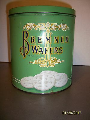 VINTAGE CIRCA 1920's BREMNER BISCUIT COMPANY CHICAGO ILL ART DECO WAFERS TIN
