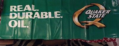 Quaker State Oil Green Sign Banner Vinyl  8' X 3' Man Cave 2009 Unused Auto Shop