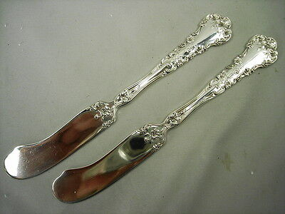 "Pair Of Rare International Sterling Pansy 6"" Butter Knives - No Mono, 5 Pr Avail"