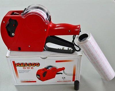 MX-5500-EOS-8-Digits-Price-Tag-Gun-400-White-w-Red-lines-sticker-labels-Ink ZN