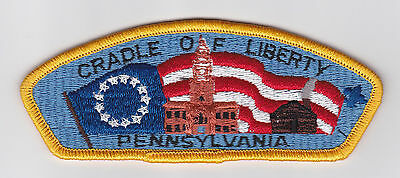 Usa Boy Scouts Of America - Cradle Of Liberty Scout Council Shoulder Patch Csp