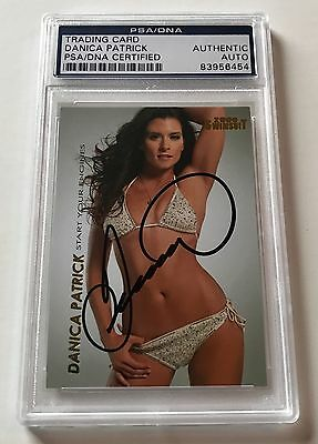 2009 Sports Illustrated Swimsuit Danica Patrick Signed Auto #D8 Card PSA/DNA