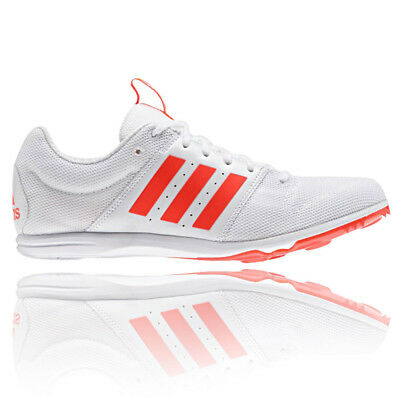 Adidas Allrounder Junior White Orange Running Track Field Spikes Shoes Trainers