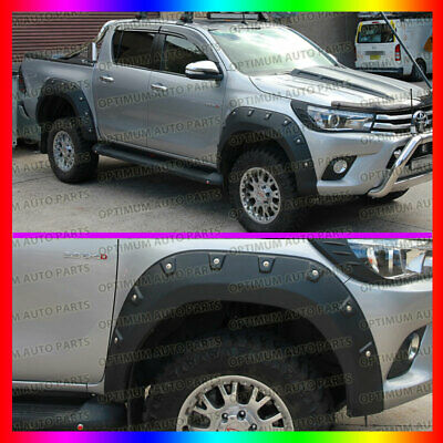 Wrinkle Black Fender Flares Wheel Arch For Toyota Hilux Revo 2015 2016 2017