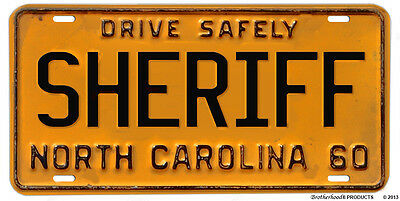 North Carolina Sheriff Drive Safely 1960 Reproduction Aluminum License Plate