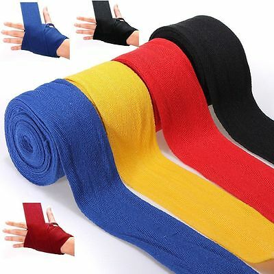 2pcs Cotton Hand Wraps Bandages Fist Boxing Muay Thai Inner Gloves MMA Mitts