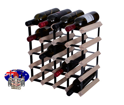 20 Bottle Timber Wine Rack -Genuine BORDERS Product - 100% Australian- Free Post