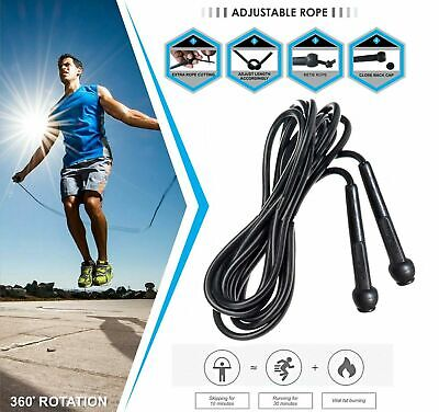 Cardio Boxing Fitness Skipping Rope 9 Ft Adjustable Length Black,Exercise Wire