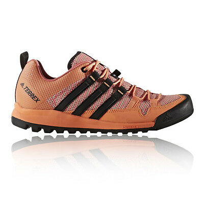Adidas Terrex Solo Womens Pink Orange Outdoors Camping Walking Shoes