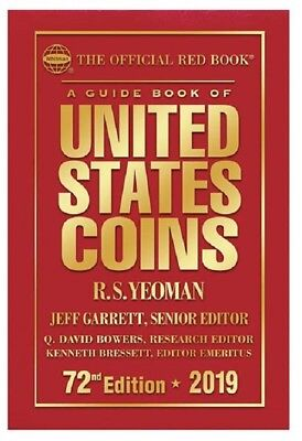 New Official Red Book Guide Book United States Coins 2019 HARDCOVER Free US S&H