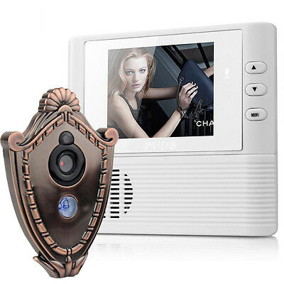 2.8 LCD Digital Peephole Viewer Door Eye Doorbell Video Color IR Camera @B