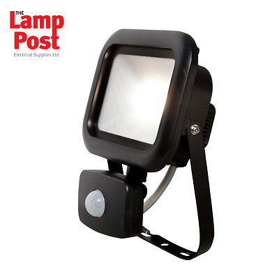 Robus RRE1040P-04 - REMY 10W LED Flood Light with PIR IP65 Polycarbonate 4000K