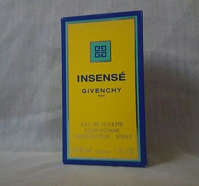 VINTAGE INSENSE GIVENCHY Eau de toilette 30ml spray, very rare.