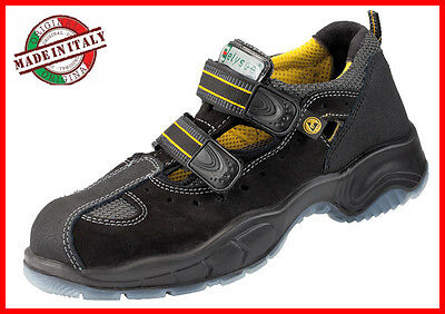 Mens Safety Shoes S1 SRC ELYSEE Lightweight Made in Italy sizes 39 - 46