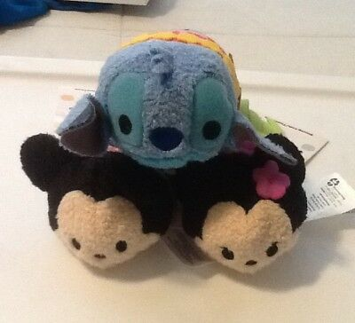 Disney Store Mickey, Minnie & Stitch Hawaiian Tsum Tsum Authentic