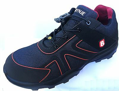 Mens Safety Trainers Shoes BRYNJE S1P ESD HERCULES Metal Free