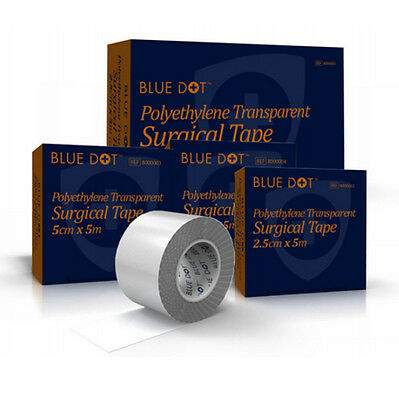 Polythene Transparent Surgical Tape - Various Sizes - Clear, Hypoallergenic