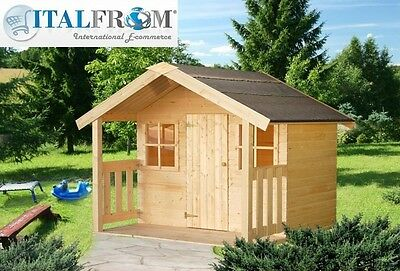 Wooden wendy House FELIX Kids Outdoor Cottage kids playhouse ItalfromB1