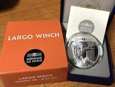 France 2012 LARGO WINCH 10 euros Silver Proof - Francia silber argent