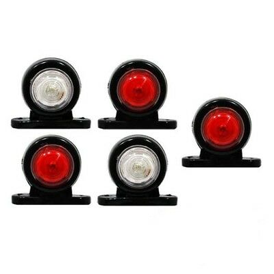 5 X 12 V 24 V Mini Side Marker Rubber Led Lights Trailer Truck Lorry Caravan Daf