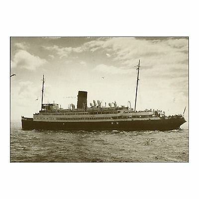 Tss Lady Of Mann I En Route To Douglas Isle Of Man Steam Packet Ship Repro Card