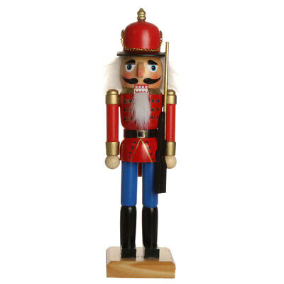 Handpainted Wooden Nutcracker Action Figures for Christmas Ornament Xmas Gift
