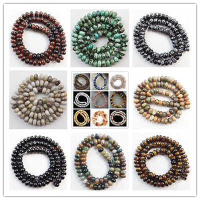 Wholesale 20pcs 5x8mm Natural Mixed Gemstone Rondelle Abacus Loose Beads Diy