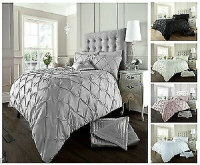 Diamond Alford  / Pintuck Duvet Cover Set With Pillow Case,Bed Line / Quilt Sets