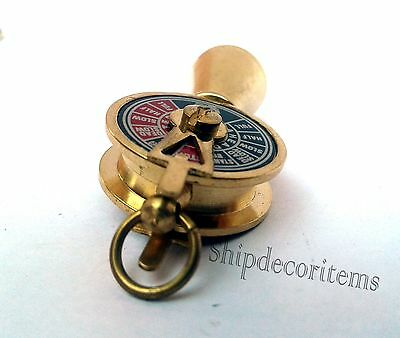 Nautical Brass Telegraph Key Chain Vintage Ship Engine Room Telegraph Key Ring