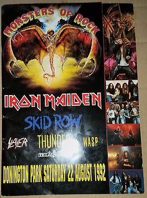 Monsters Of Rock Donnington '92 -  Concert Programme Free Shipping