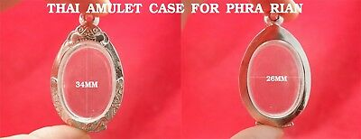 Empty Case Line-Thai Frame Real Silver 30% Triangle Phra Kring Thai Amulet