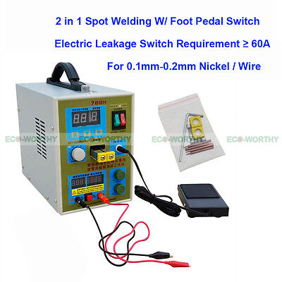 788H 2in 1 LED Pulse Battery Spot Welder Weld 18650 Charger 60A 36V Wire Welding