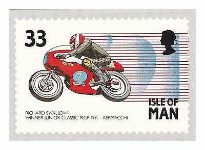 Richard Swallow Winner Jnr Classic Manx Grand Prix Motorcycling - Aermacchi 1991