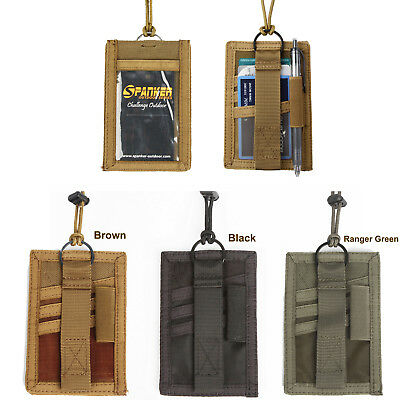 Vertical ID Card Holder Certificate Pouch Hook & Loop Closures (3 colors option)