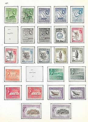 Aden stamps 1953 Collection of 23 stamps  HIGH VALUE!