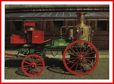 STEAM FIRE ENGINE 1863 SUTHERLAND by MERRYWEATHER & SONS SCIENCE MUSEUM POSTCARD