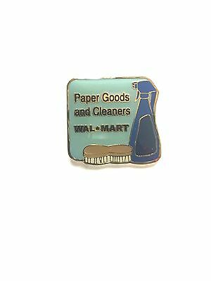 Rare Walmart Paper Goods And Cleaners Wal Mart Lapel Pin Pinback Brand New
