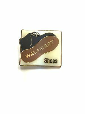 Rare Walmart Shoes Wal Mart Lapel Pin Pinback Brand New