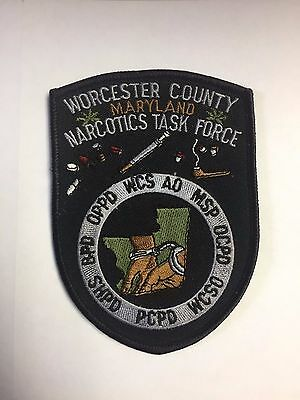 Worcester County Maryland Narcotics Task Force Cloth Patch