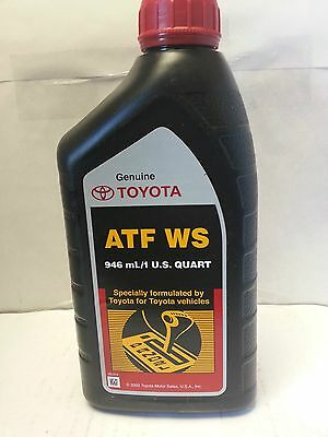 Genuine Toyota Automatic Transmission Fluid 1QT WS ATF World Standard (6 Pack)