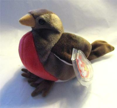 """Retired Ty Beanie Baby """"Early"""" The Red Breasted Robin of Spring 1997 MNWT"""
