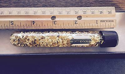 5 Inch Giant Tube Gold Flakes 24 Karet (Pure Gold) Impress Your Friends !! Nice