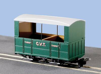 G.V.T. 4 Wheel OO-9 Coach, Open Sides - Peco GR-520 - free post