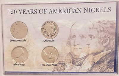 #1 - 120 Years Of American Nickels Collector Set In Display Case