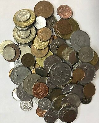 Nearly I Pound Bag Of Mixed Worldwide (100 Coins) - Uncirculated & Circulated