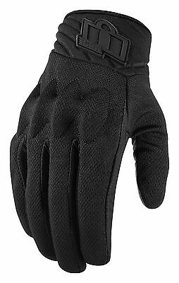 ICON ANTHEM 2 Mesh/Leather Touchscreen Motorcycle Gloves (Stealth) Choose Size